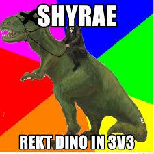 Dinosaur Meme Generator - shyrae rekt dino in 3v3 ded dino meme generator