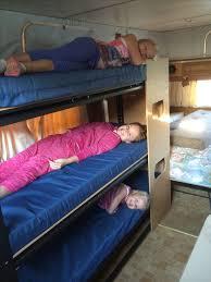 Bunk Beds For Caravans Bunk Made From Garage Shelving From Bunnings Mattresses