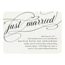 morning after wedding brunch invitations just married post wedding brunch invitation zazzle