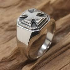 mens sterling rings images Maltese cross men 39 s handcrafted sterling silver signet ring gif