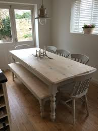 white farmhouse kitchen table bespoke farmhouse tables made from reclaimed pine in warwickshire