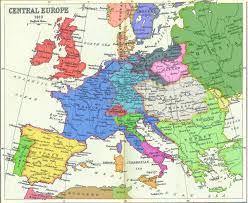 mapa europe a coloured map of napoleonic europe 1810 more a map with