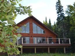 modern rustic log home lac la belle vrbo