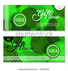 green gift voucher vector illustration gift voucher vector illustration card template stock photo photo