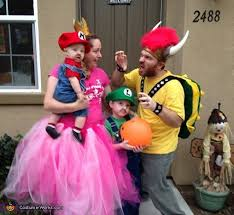Peach Halloween Costume Mario Bros Family Costume