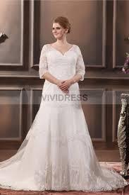 wedding dresses uk designer sheath column floor length sweetheart 3 4 length sleeve button