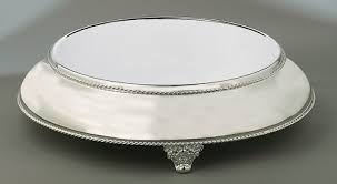 14 inch silver plated cake plateau 18 inch base