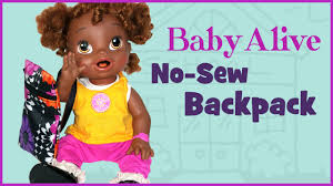 no sew backpack for baby alive doll easy doll crafts 15