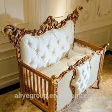 Baby Crib Bed Ak38 Luxury Royal Wooden Baby Crib European Style New Born Baby