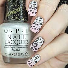 copycat claws music stamping over textured polish