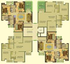 Cluster House Plans Sare Crescent Parc Royal Greens 2 3 And 4 Bhk Apartments In Gurgaon