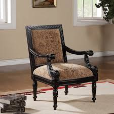 Wooden Accent Chair Popular Living Rooms Accent Chairs With Wood Arms Intended For