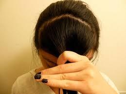 upside down v shape haircut how to cut your bangs bare magazine