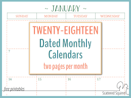 printable 2017 calendar two months per page two page per month 2018 dated calendars are ready