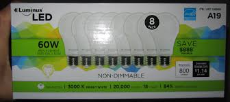 costco led can lights costco luminus 3000k a19 led bulbs non dimmable 8pk 17 99 page 2