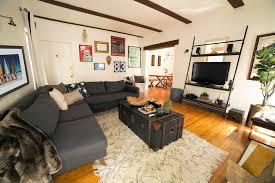 True Modern Sofa Laurel Wolf Makeover Brandon Kleinman S La Bachelor Pad Wolf