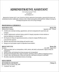 administrative assistant resume resume for administrative assistant musiccityspiritsandcocktail