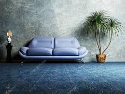 Living Room With Blue Sofa by Modern Interior Design Of Living Room With A Blue Sofa U2014 Stock