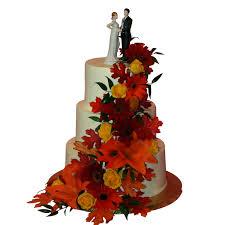 1023 round three tier fall wedding cake abc cake shop u0026 bakery