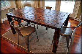 attractive distressed wood kitchen table including tables with