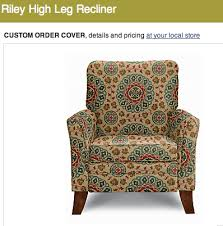 Printed Fabric Armchairs Riley High Leg Recliner By La Z Boy Cover Type Fabric Cover