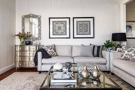 Gray Sofa In Living Room Contemporary Living Room Gray Sofa Set The Strand Chaise Sofa Is
