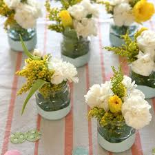 jar flower arrangements baby food jar flower arrangements