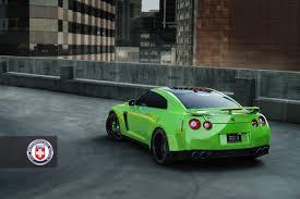 Nissan Gtr Back - green hulk widebody nissan gtr from jotech on hre wheels rear top