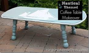 themed coffee table nautical themed coffee table makeover sweet pea
