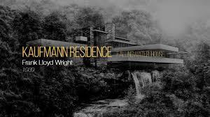 Frank Lloyd Wright Waterfall by Kaufmann Residence Fallingwater House Frank Lloyd Wright