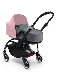 Baby Stroller Canopy by New Bugaboo Bee3 With Soft Pink Sun Canopy And Grey Baby Bassinet