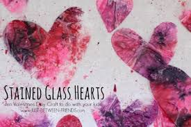 Kids Stained Glass Craft - valentines day craft for kids stained glass hearts just