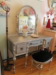 Silver Vanity Chair Silver Distressed Vanity On Etsy I Want To Try This With My