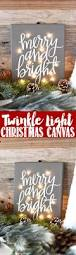 diy twinkle light christmas canvas how to make a merry u0026 bright