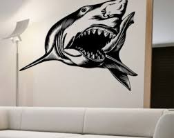 shark wall decals etsy
