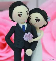 wedding cake toppers theme wedding cake topper vintage violet theme wedding clay
