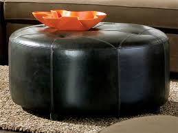 Ottoman Black Leather Ottoman Black Leather Cort