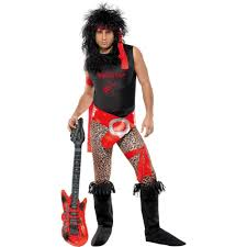 80s super rock star halloween costume mens xl 40 44 rocker