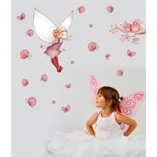 deco fee chambre fille sticker fée et papillons acte deco
