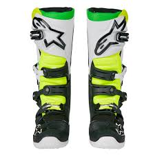 alpinestar motocross gear alpinestars mx boots tech 7 black white green 2018 maciag offroad