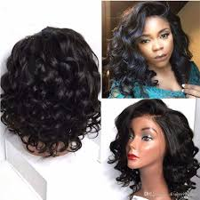short curly bob wig brazilian short body wave curly bob human hair lace front wigs with