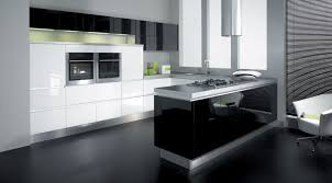 kitchen style awesome modern black and white gloss color kitchen awesome modern black and white gloss color kitchen cabinet for f inspiring minimalist apartment with u shaped layout decoration modern kitchen tile