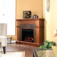 white corner electric fireplace media center black small with