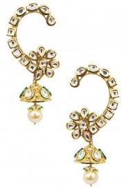 kaan earrings earrings gold finish kundan kaan earrings pernia s pop