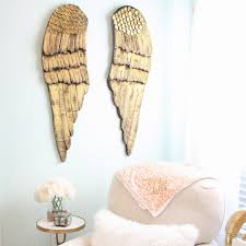 Wings Wall Decor Gold Wood Wings Set Of 2 Caden Lane