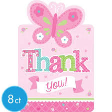 baby shower notes baby girl baby shower thank you notes 8ct