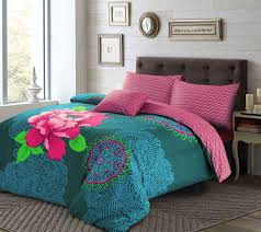 3pc janice floral boho hippie style flower duvet cover bed linen