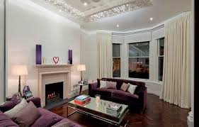 Black Modern Living Room Furniture by How To Match A Purple Sofa To Your Living Room Décor