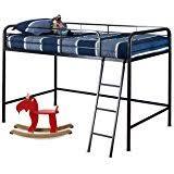 amazon com maxtrix twin mid loft bed w straight ladder and slide