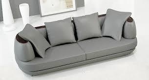 canapé cuir gris clair deco in ensemble canape 3 2 1 places en cuir gris clair ryga